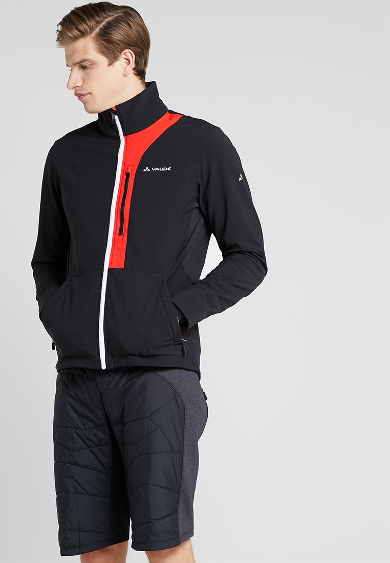 Vaude - VIRT SOFTSHELL JACKET - Softshelljacke - black/red