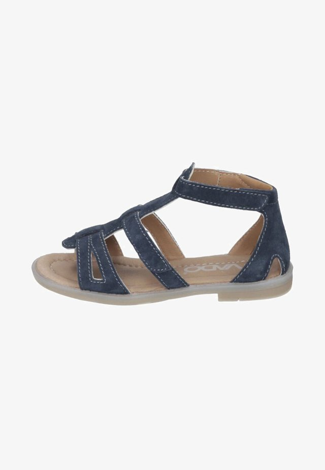 Ankle cuff sandals - marine
