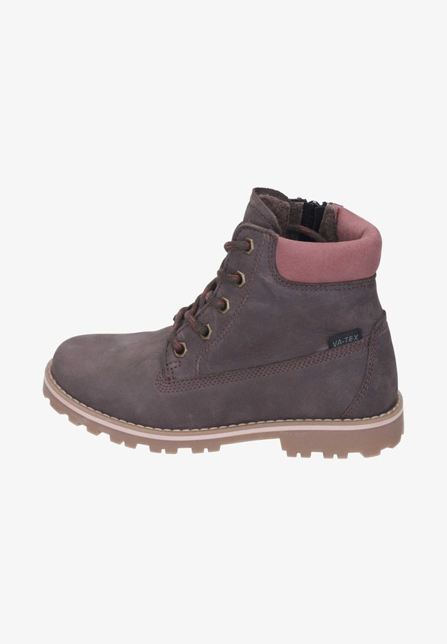 Classic ankle boots - chocolato/pink