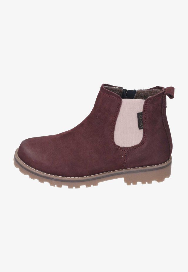 Ankle boots - bordo