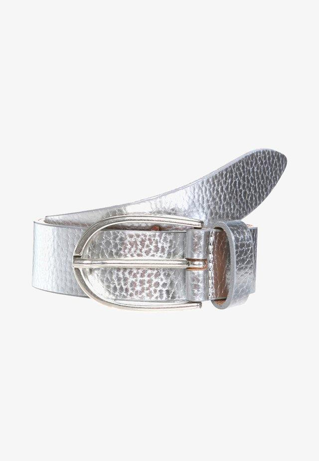 Gürtel business - silber metallic