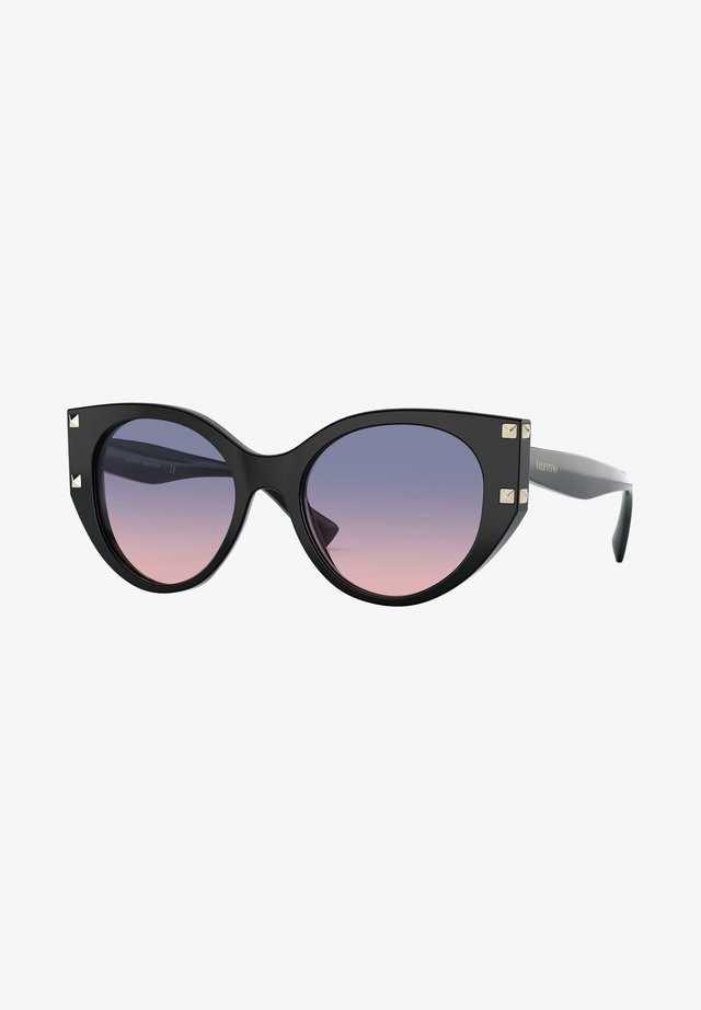 ROCKSTUD - Sunglasses - black/violet pink shaded