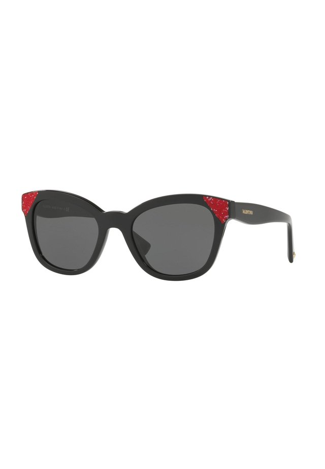 Sunglasses - black red/smoke