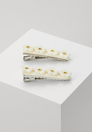 CHRISSY CLIPS 2 PACK - Hårstyling-accessories - white/gold-coloured