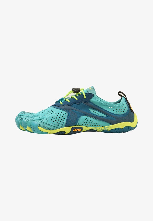 Minimalist running shoes - teal/navy