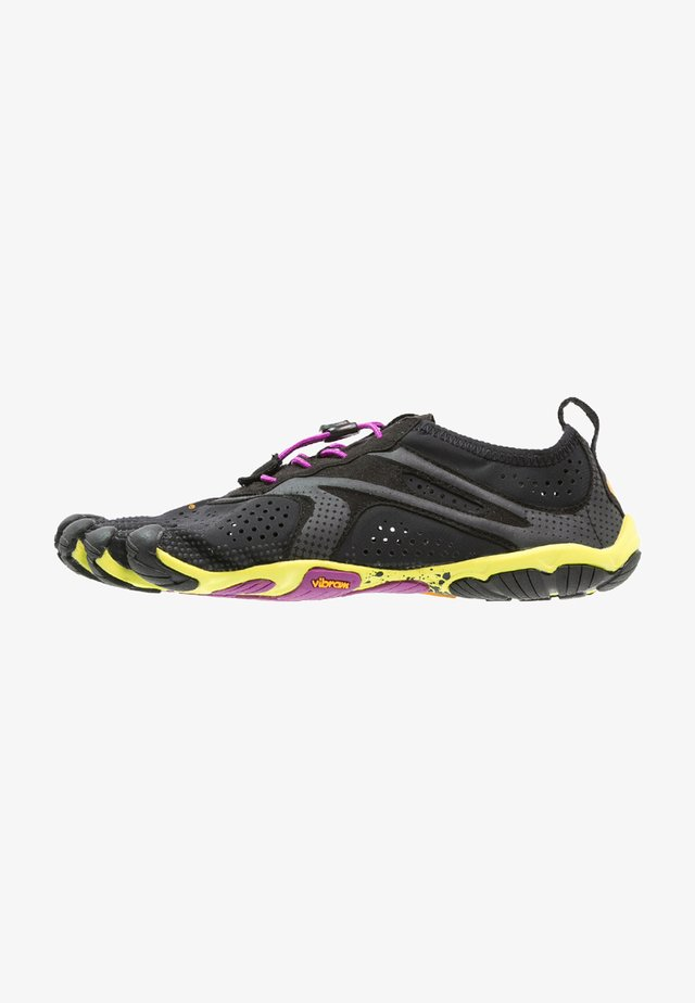 Minimalist running shoes - black/yellow/purple