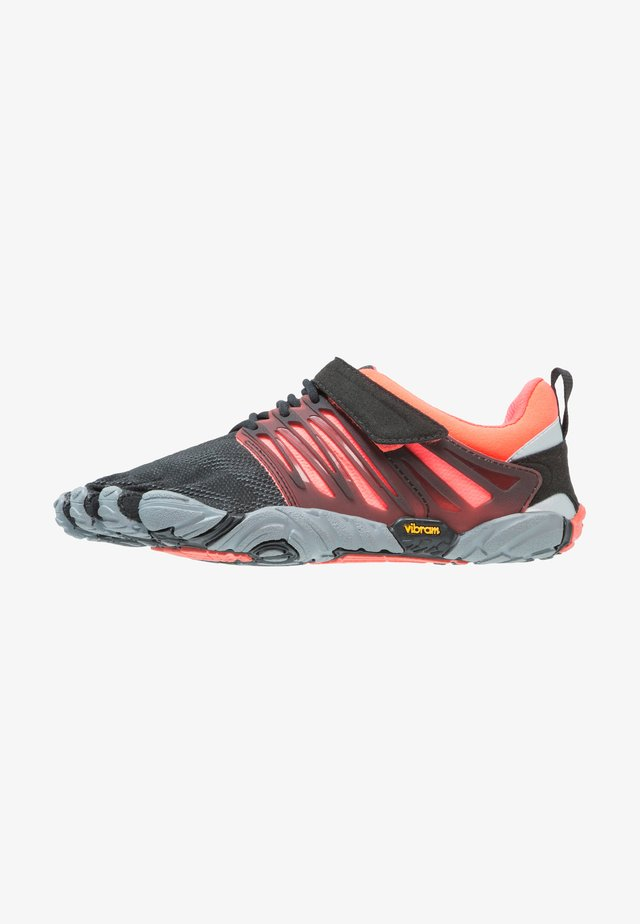 Sports shoes - black/coral/grey