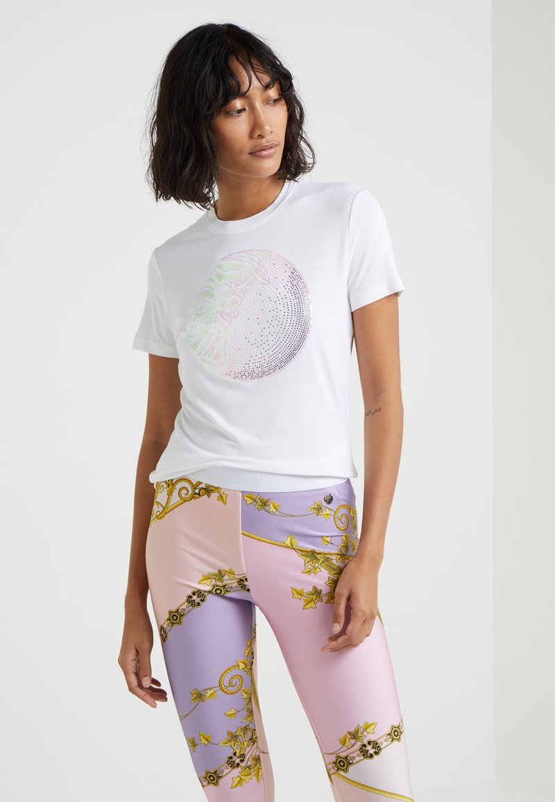 Versace Collection - FITTED - T-Shirt print - bianco ottico