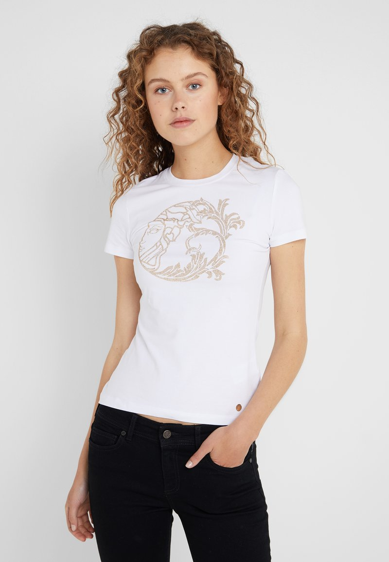 Versace Collection - T-shirt med print - avorio