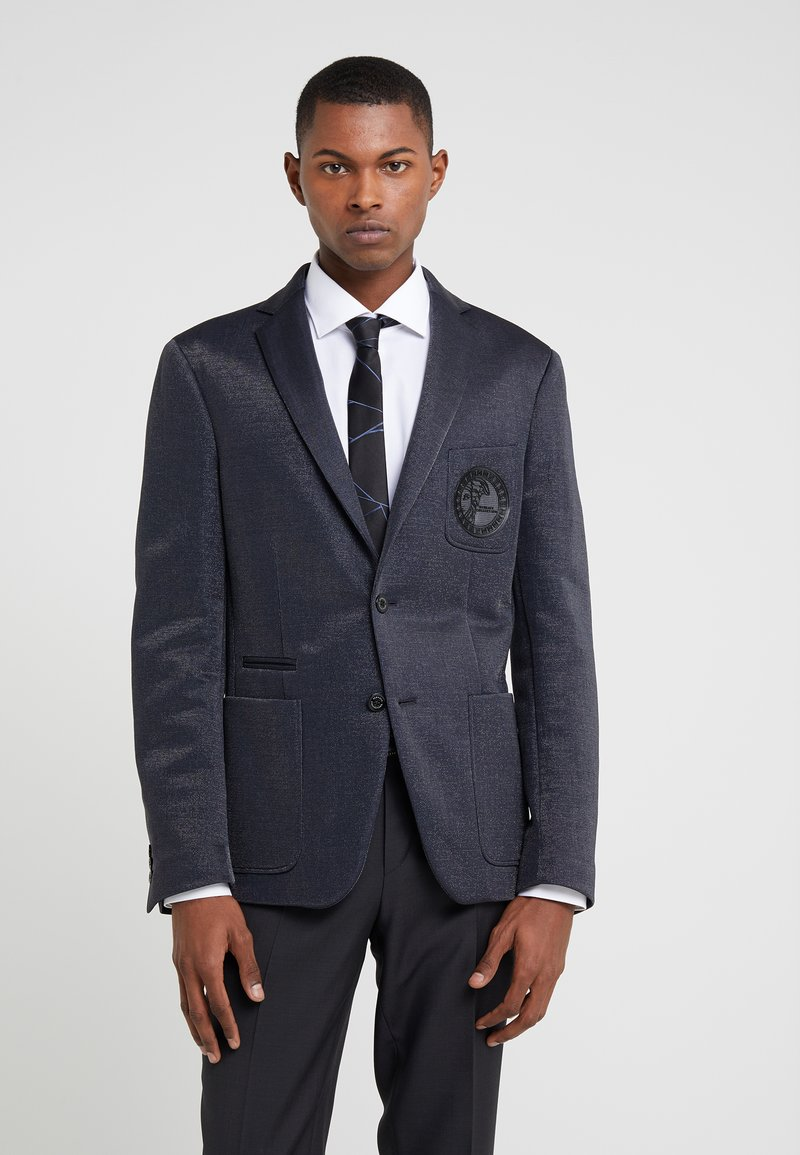 Versace Collection - GIACCA - Blazer jacket - blu/argento