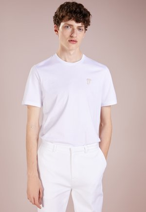 Basic T-shirt - bianco/oro