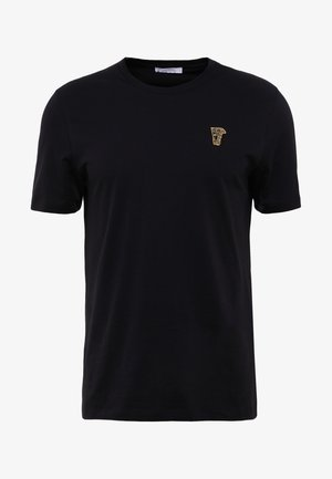 T-Shirt basic - nero/oro