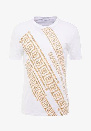 T-shirt med print - bianco
