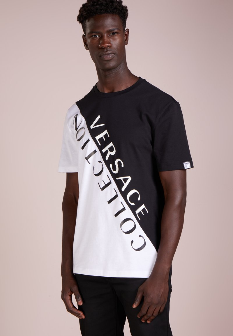 Versace Collection - T-shirt con stampa - nero/bianco