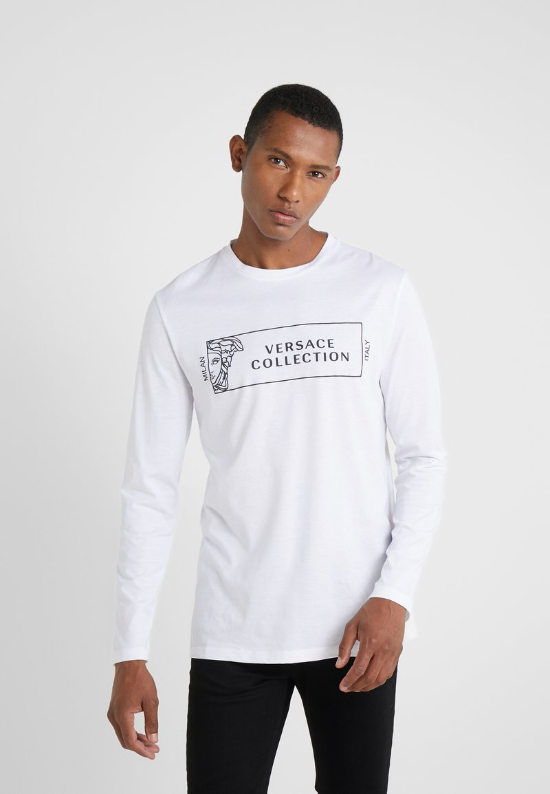 Versace Collection - GIROCOLLO REGOLARE - Long sleeved top - bianco/nero