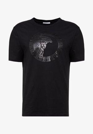 GIROCOLLO REGOLARE - T-shirt con stampa - nero
