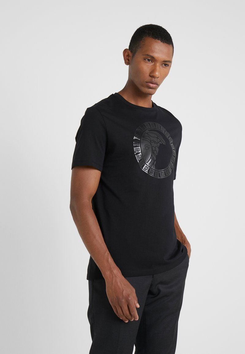 Versace Collection - GIROCOLLO REGOLARE - T-shirts print - nero