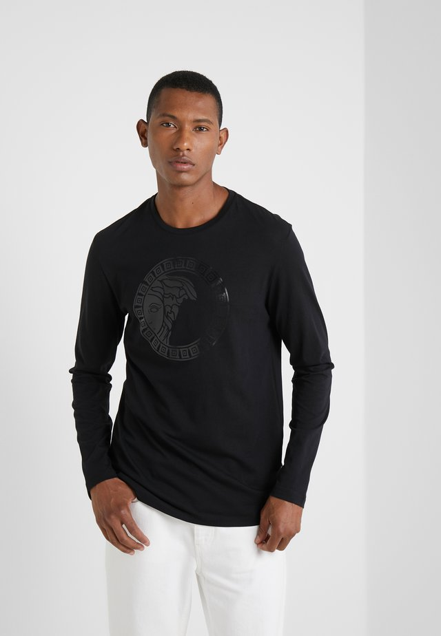 T-SHIRT GIROCOLLO REGOLARE - Long sleeved top - nero