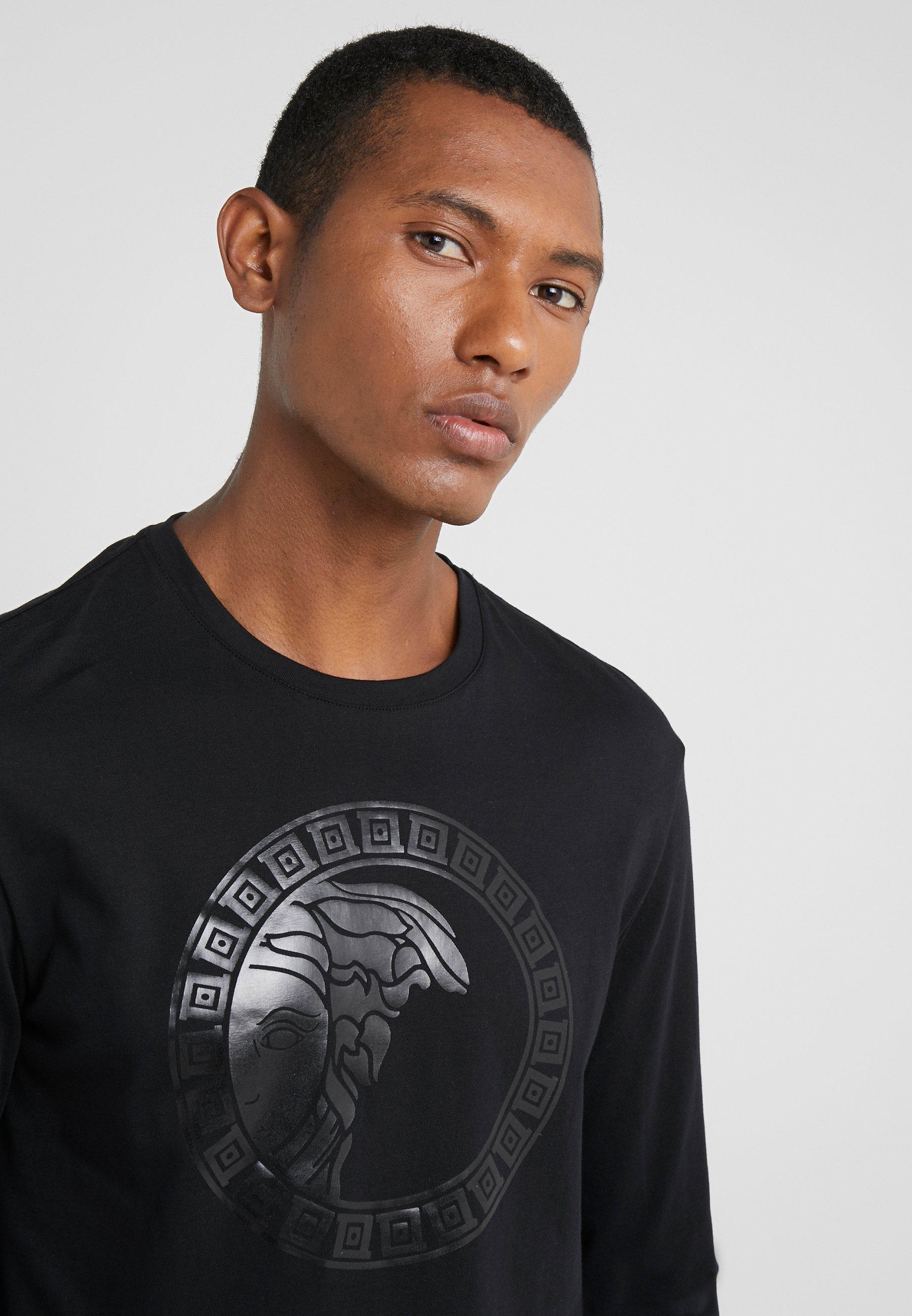 Versace Collection T-shirt Girocollo Regolare - Langarmshirt Nero