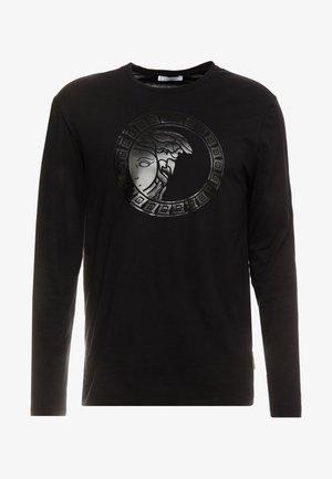 T-SHIRT GIROCOLLO REGOLARE - Langærmede T-shirts - nero