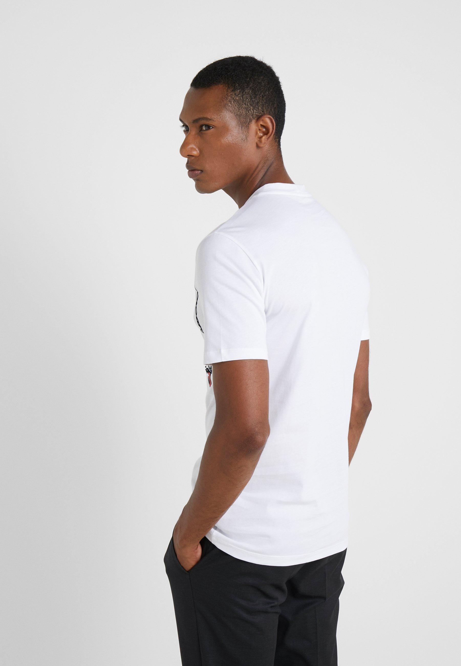 shirt Imprimé Bianco Collection Versace FittedT K3uTJF1cl5
