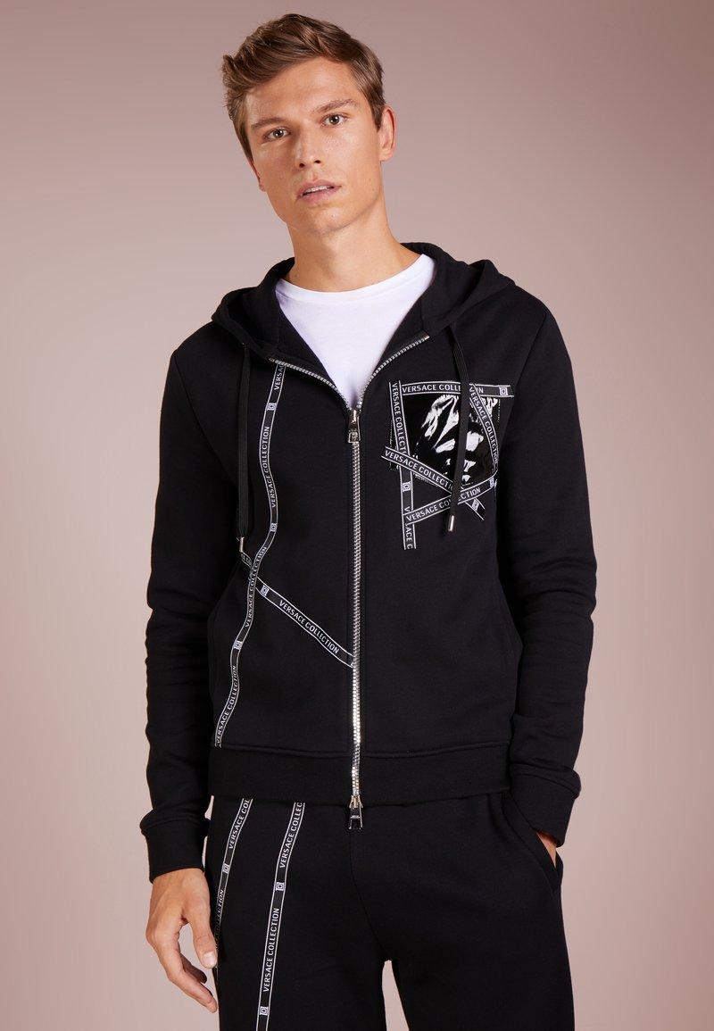 Versace Collection - CON CAPPUCCIO - Zip-up hoodie - nero