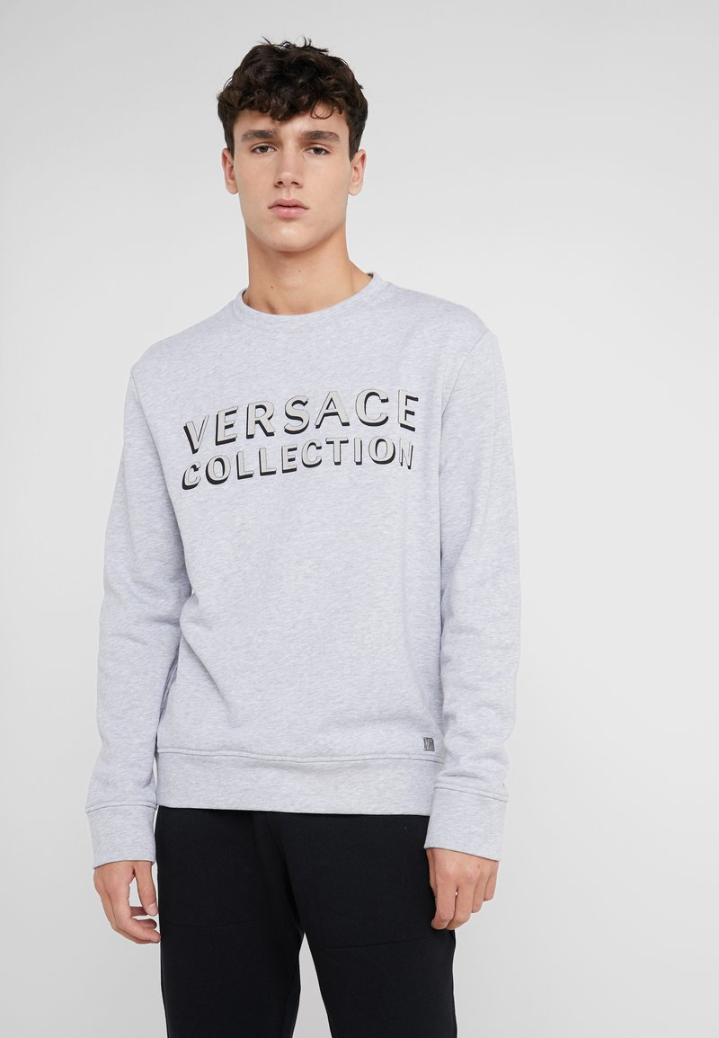 Versace Collection - SPORTIVO FELPA - Sweatshirt - grigio chiaro/nero