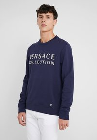 Versace Collection - SPORTIVO FELPA - Sweatshirt - bluette - 0