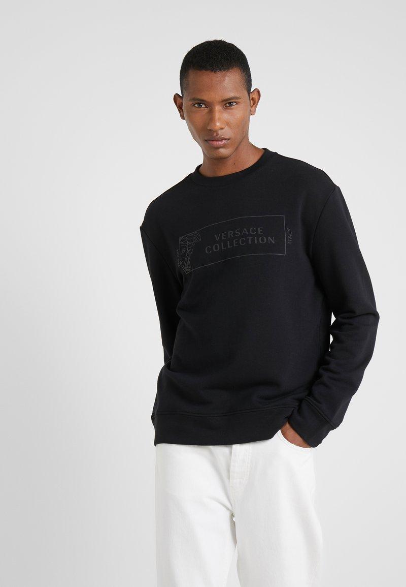 Versace Collection - FELPA GIROCOLLO - Sweatshirt - nero