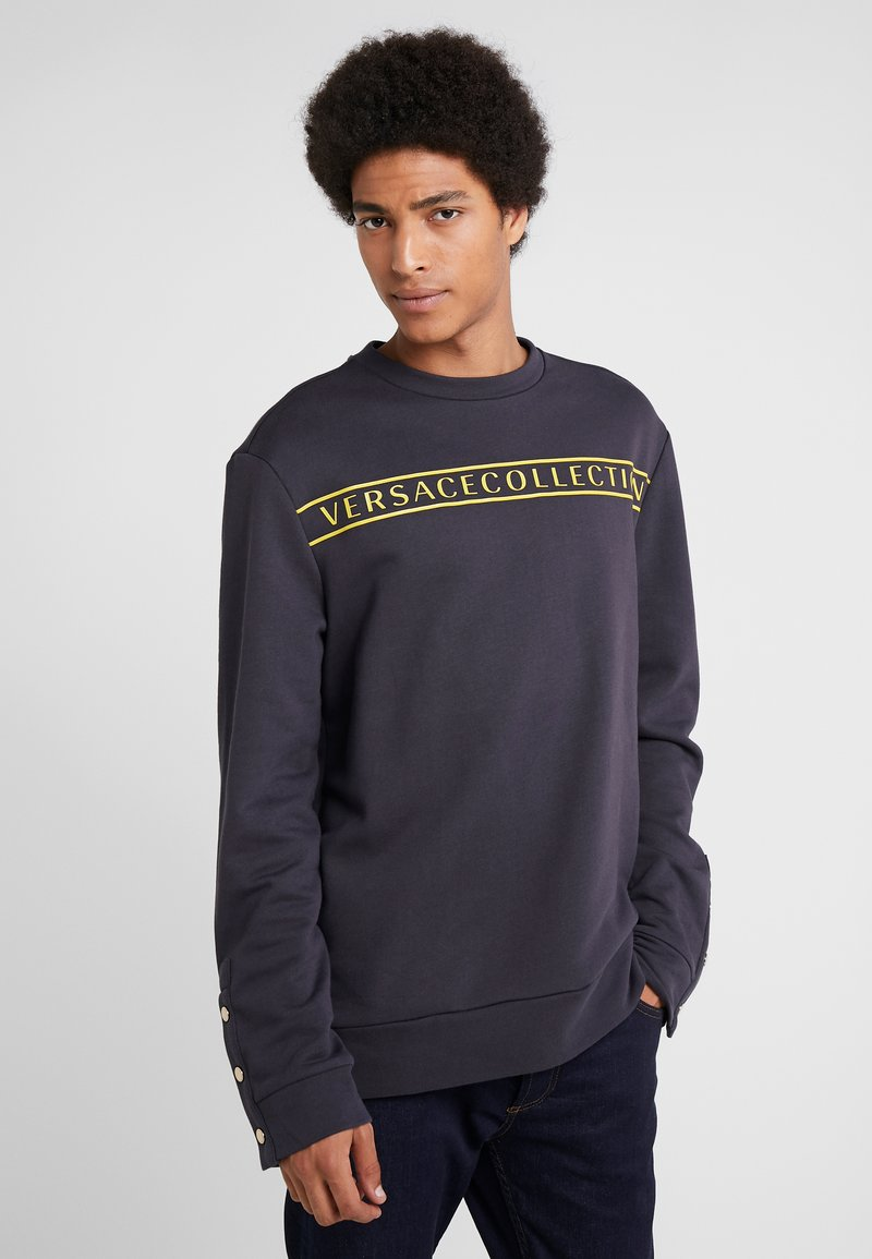 Versace Collection - FELPA CON RICAMO - Sweatshirts - blue