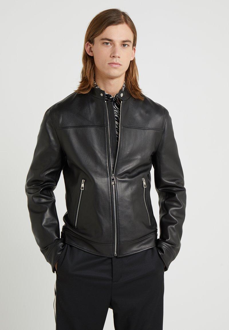 Versace Collection - BLOUSONE PELLE - Leather jacket - nero
