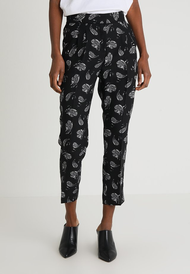 PAISLEY AFFAIR FRONT LEG PANTS - Tygbyxor - rich black