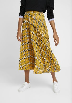 HIGHLAND PLAID PLEATED MIDI SKIRT - Jupe trapèze - honey pot