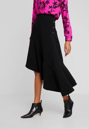 STRETCH SIDE SKIRT - A-snit nederdel/ A-formede nederdele - rich black