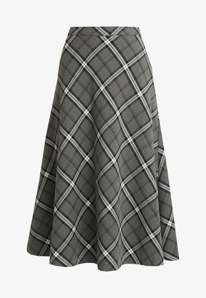 BOLD PLAID MIDI SKIRT - A-linjekjol - med grey