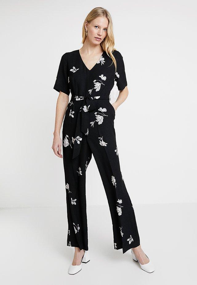 ELBOW TOSSED FLOWERS - Jumpsuit - rich black