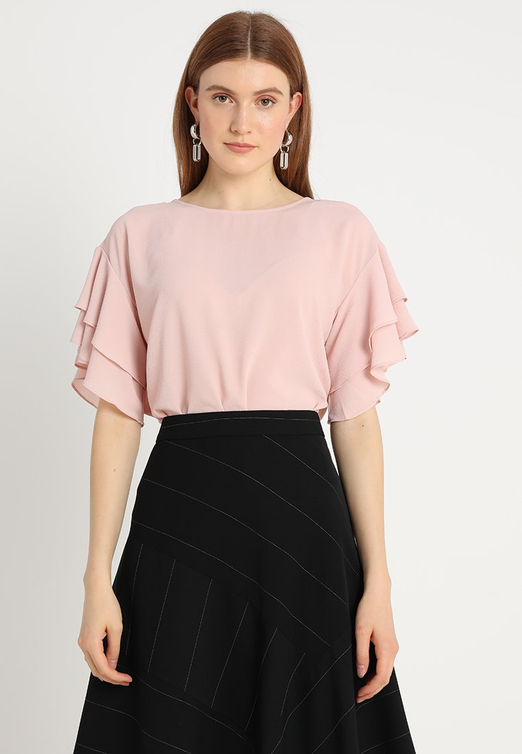 Vince Camuto - DROP TIERED TEXTURED BLOUSE - Bluser - wild rose
