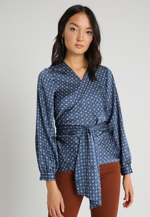 ACCENTS BELTED WRAP - Camicetta - antique blue