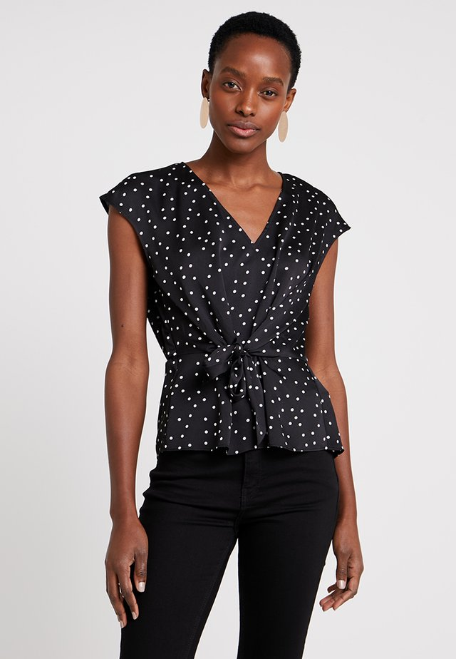 EXTEND CRISP POLKA DOT - Blus - rich black