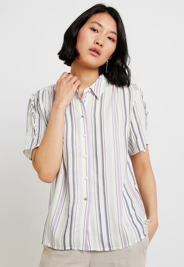 DRAWSTRING STRIPE - Button-down blouse - morning dew
