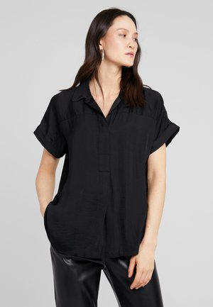 COLLARED RUMPLE BLOUSE - Blouse - rich black