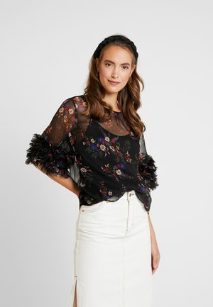 RUFFLE COUNTRY BOUQUET BLOUSE - Bluser - rich black
