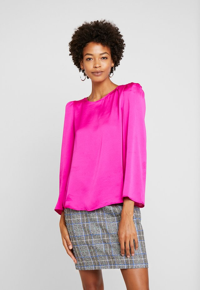 SHOULDER PAD BLOUSE - Pusero - pink shock