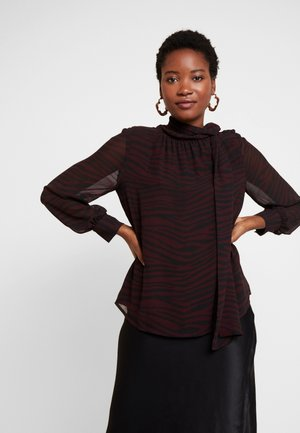 TANQUIL ANIMAL TIE - Blouse - port