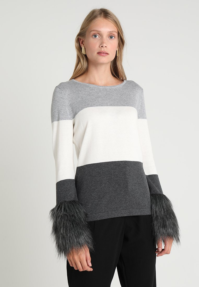 Vince Camuto - COLORBLOCK SWEATER - Maglione - light grey