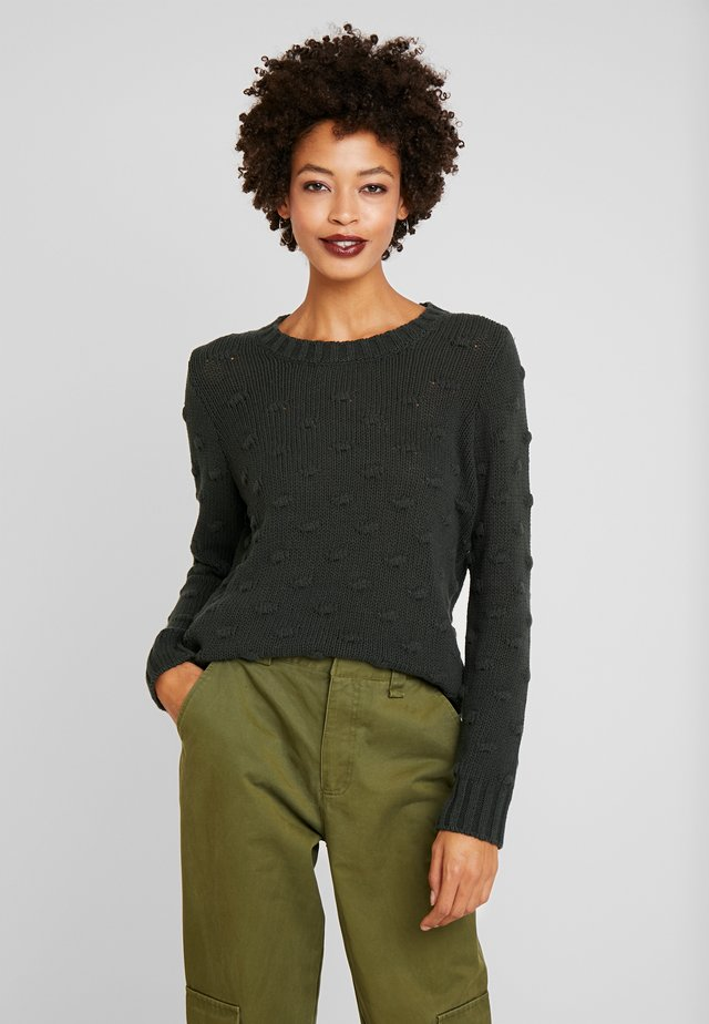ALL OVER POPCORN CREWNECK - Strickpullover - willow
