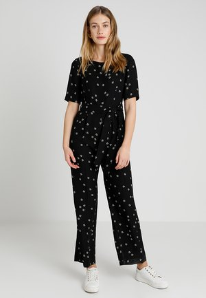 ELBOW SLEEVE DITSY BELTED - Jumpsuit - rich black