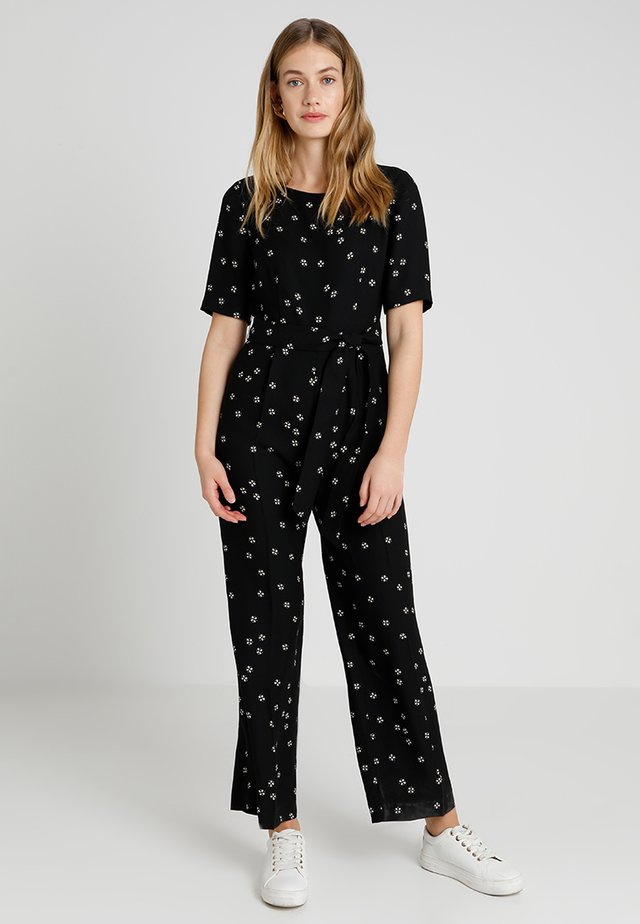 ELBOW SLEEVE DITSY BELTED - Overall / Jumpsuit - rich black
