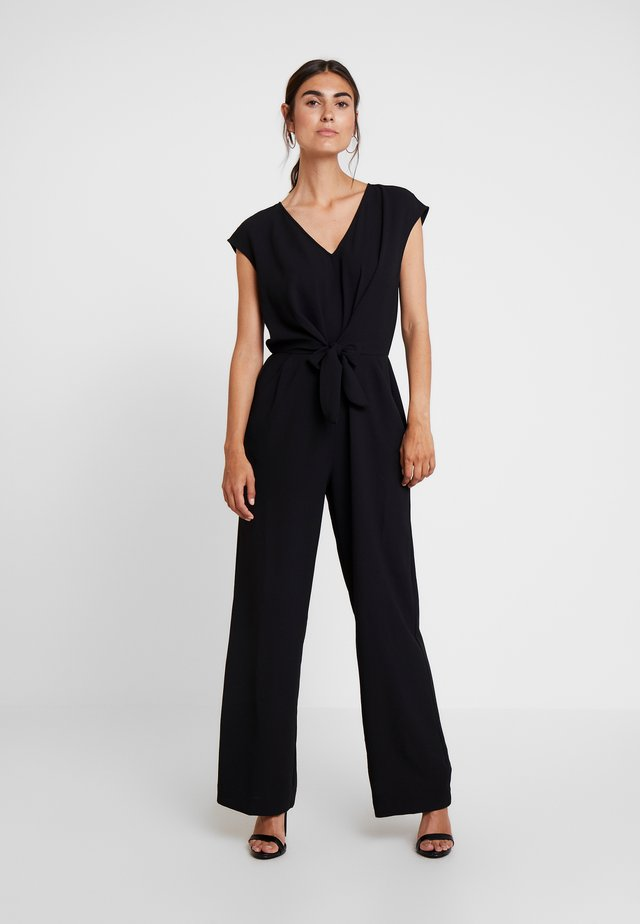 EXTEND TIE FRONT - Overall / Jumpsuit - rich black