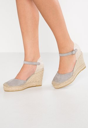 Sandály na vysokém podpatku - gris